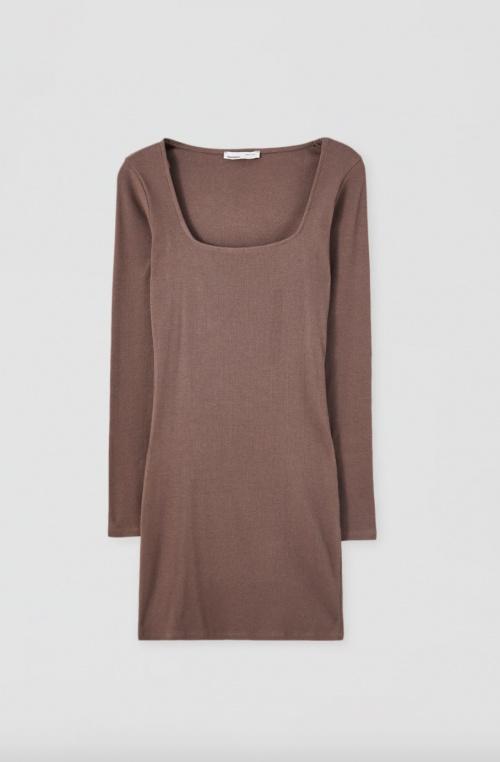 Pull & Bear - Mini-robe côtelée