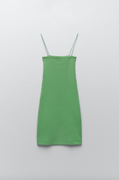 Zara - Robe courte côtelée