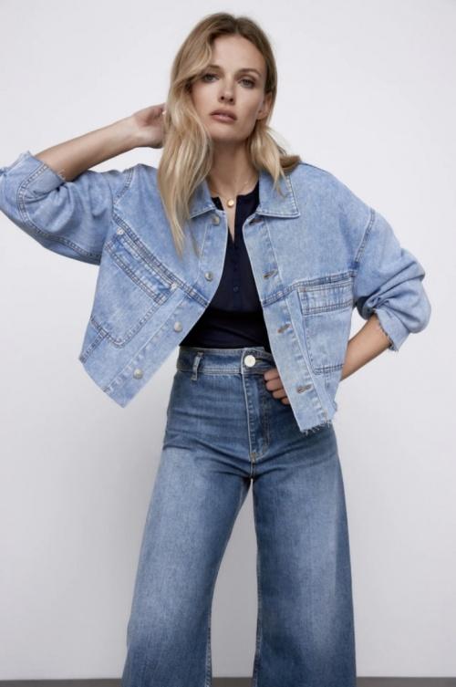 Zara - Veste en jean XL