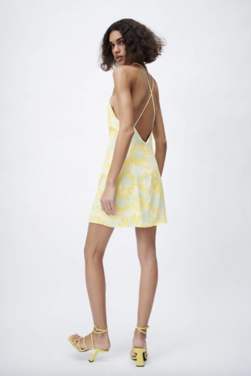 Zara - Robe imprimée dos nu