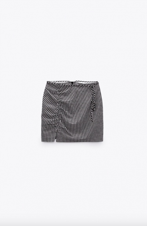 Zara - Mini jupe drapée