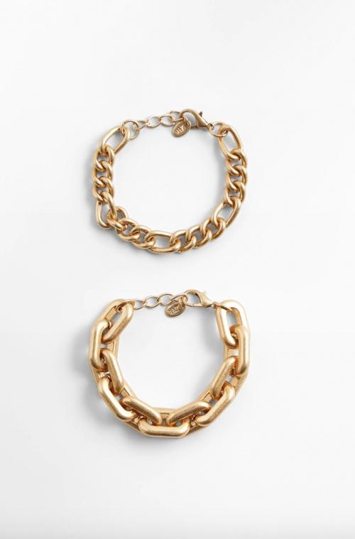 Zara - Lot de 2 bracelets à maillons