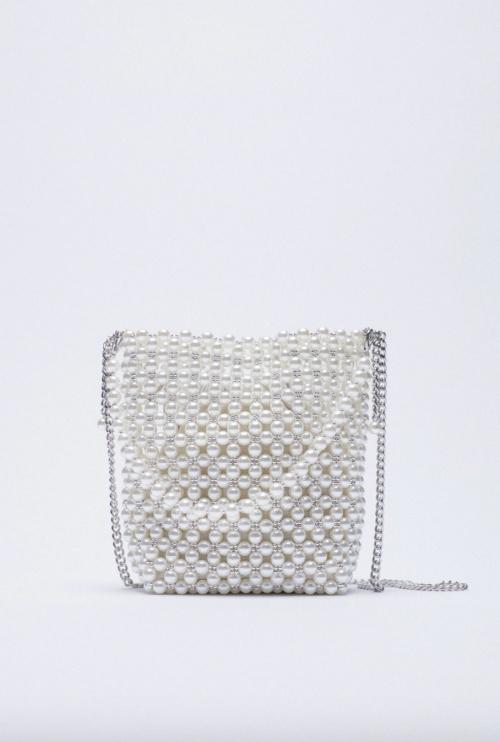 Zara - Mini sac seau à perles