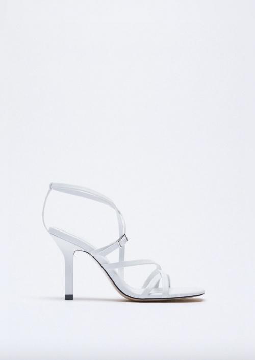 Zara - Sandales à talons en cuir