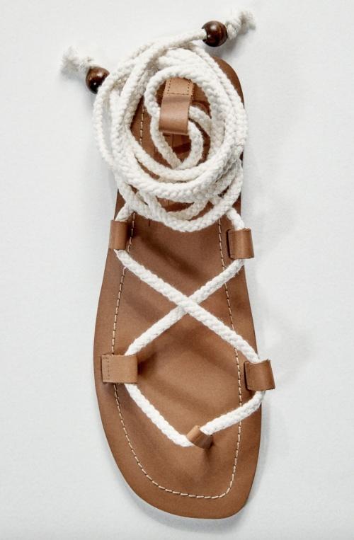 Zara - Sandales plates à cordes