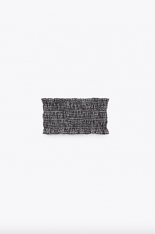 Zara - Top bandeau drapé