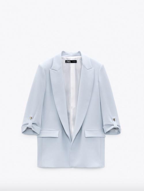 Zara - Veste à manches retroussées