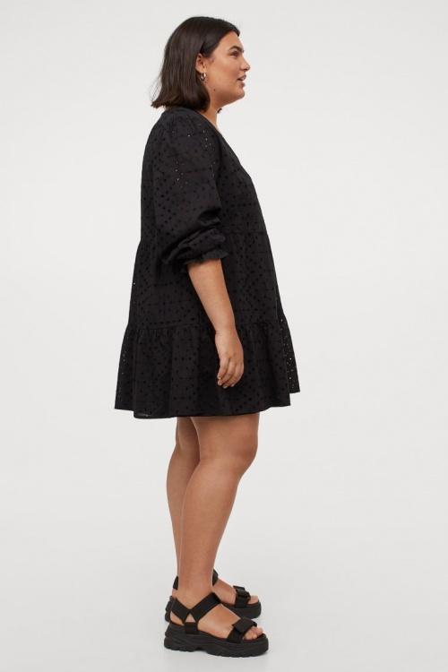 H&M+ - Robe brodée