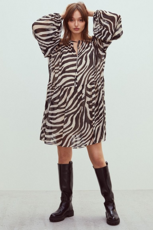 H&M - Robe en mousseline