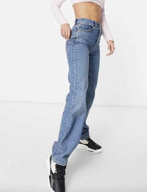 Asos Design - Jean droit taille haute en tissu biologique