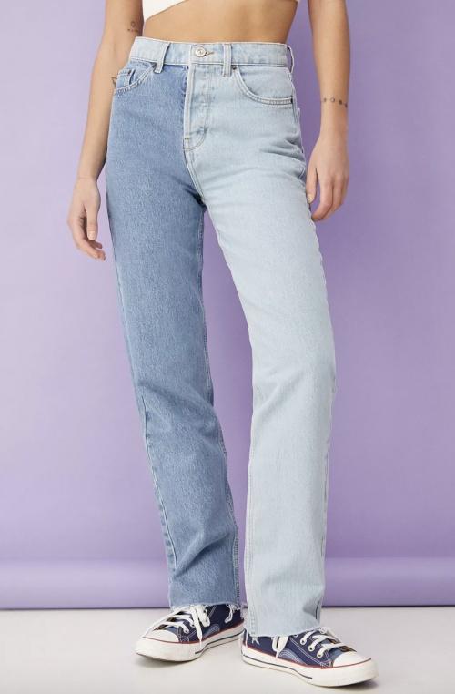 BDG par Urban Outfitters - Jean bicolore