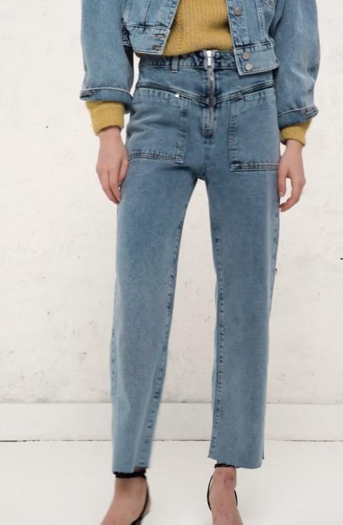 Ba&sh - Jean droit poches plaquées