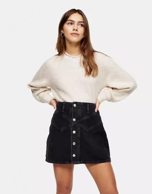 Topshop Petite - Jupe en jean