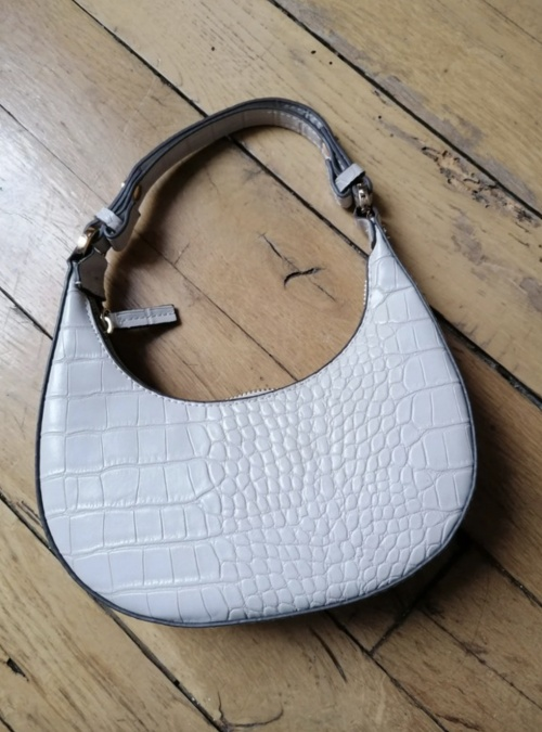 Mango - Petit sac à main imitation cuir motif crocodile