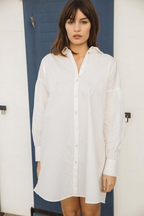 Balzac - Robe chemise blanche
