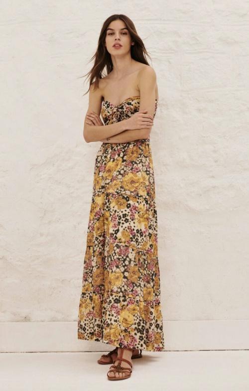 Ba&sh - Robe longue bustier en coton