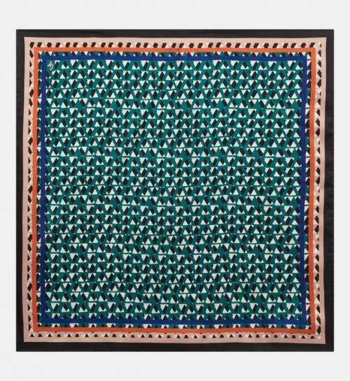 Galeries Lafayette - Galeries Lafayette - Carré de soie Lino graphique