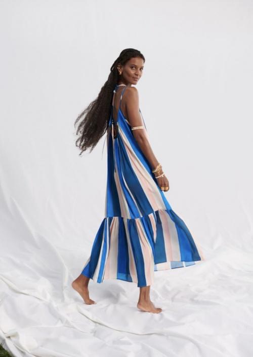 H&M - Robe longue avec laçage