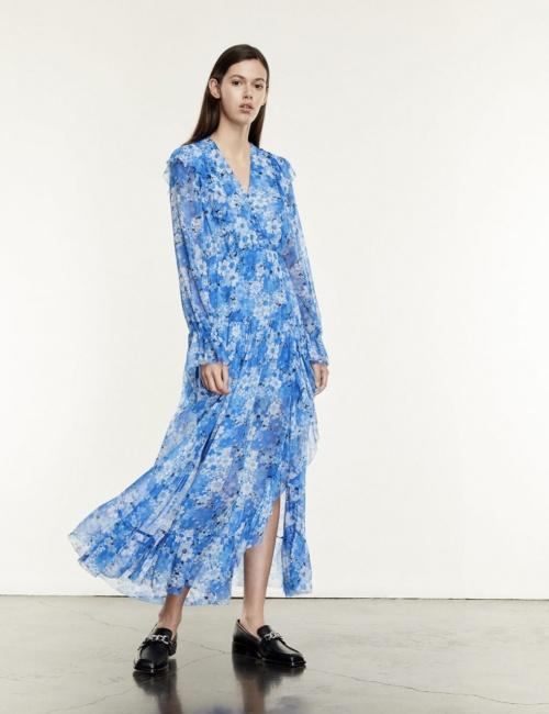 The Kooples - Robe longue à imprimé fleuri