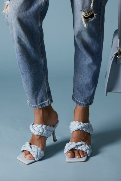 Clarosa - Mules bleues à talon