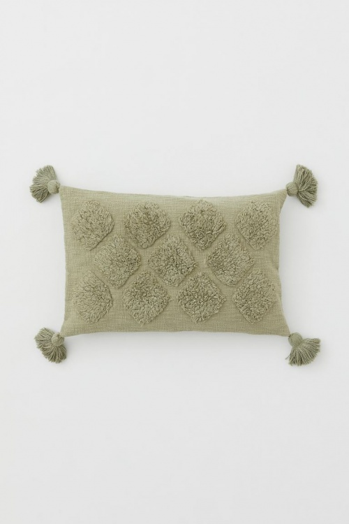 H&M Home - Housse coussin pompons
