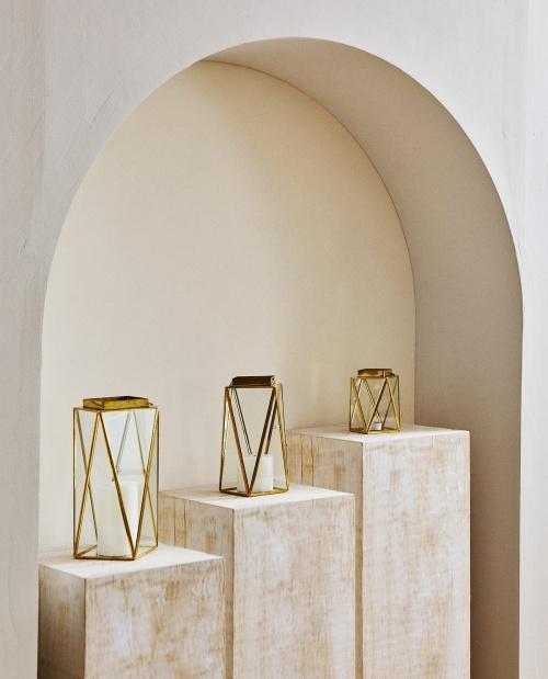 Zara Home - Lanterne doré