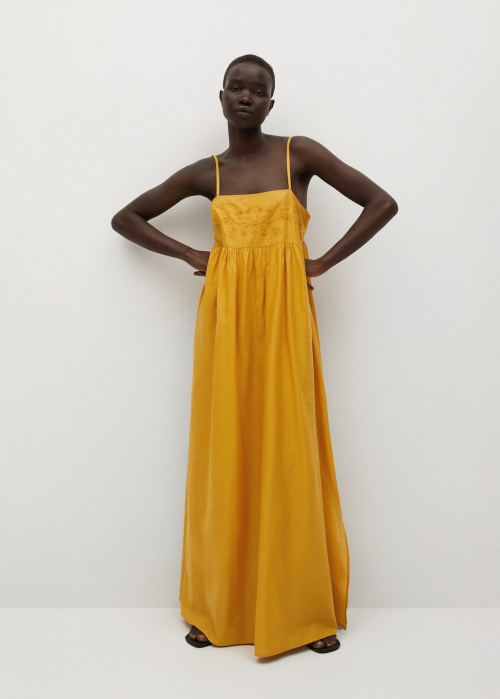 Mango - Robe longue brodée