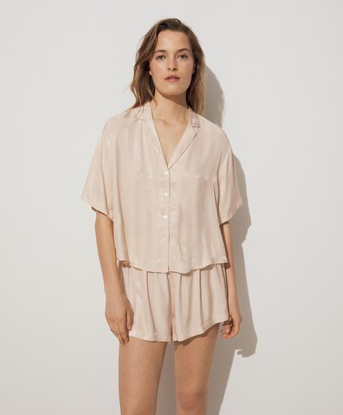 Oysho - Pyjama satin rayé