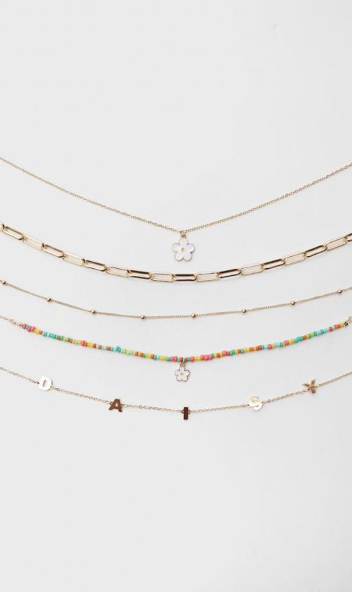 Stradivarius - Lot de cinq colliers