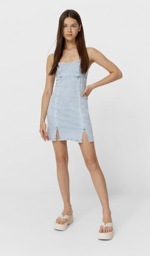 Stradivarius - Mini robe en jean
