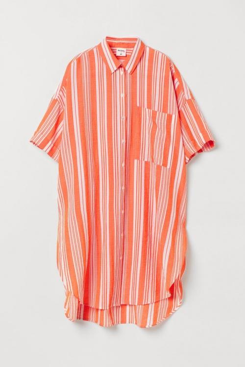 H&M - Chemise longue rayée