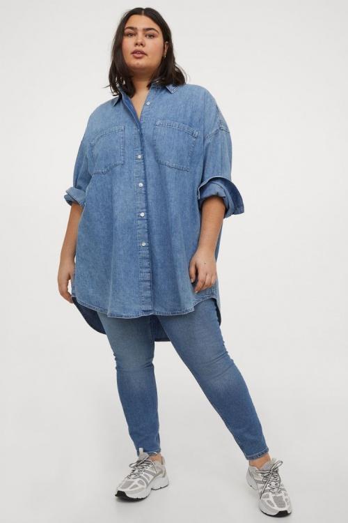 H&M+ - Chemise oversize en jean