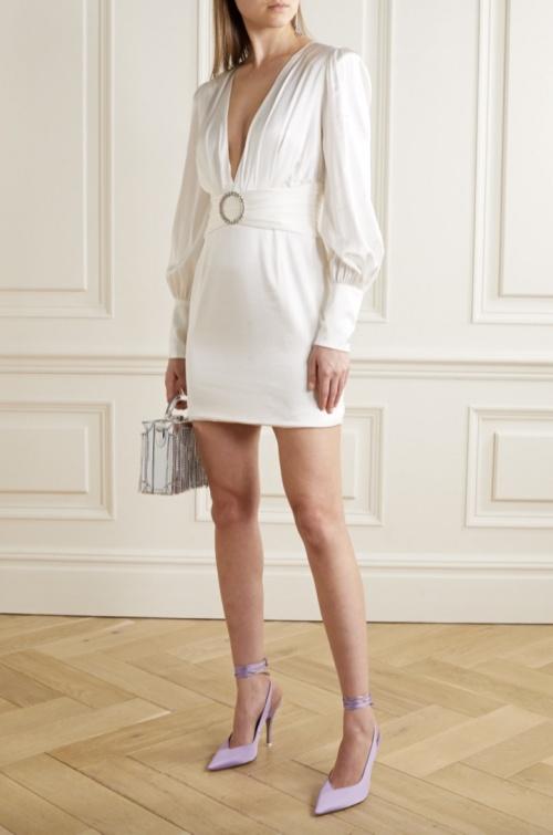 Retrofête - Mini robe en satin
