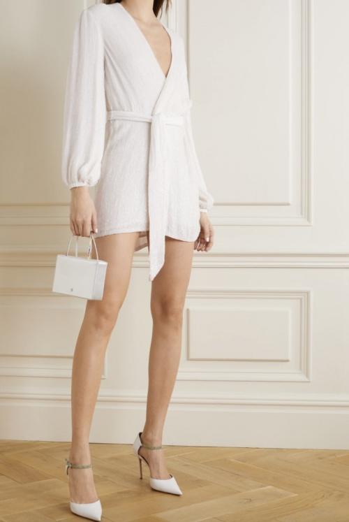 Retrofête - Mini robe portefeuille