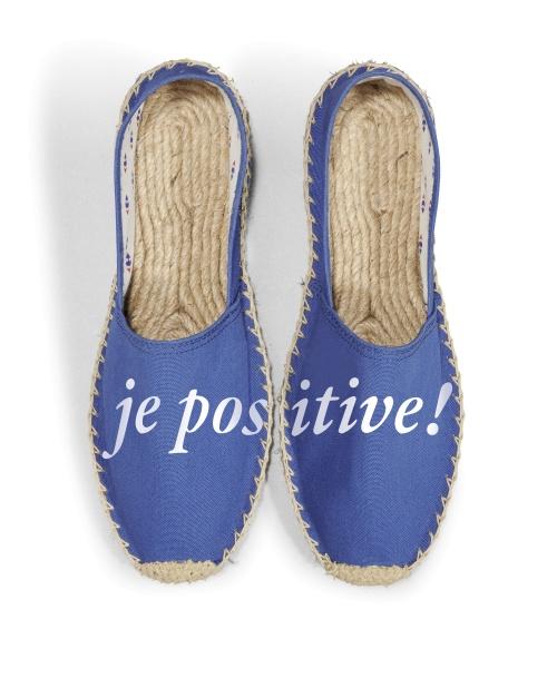 Carrefour - Espadrilles 'Je Positive' (disponible le 29 Juin)