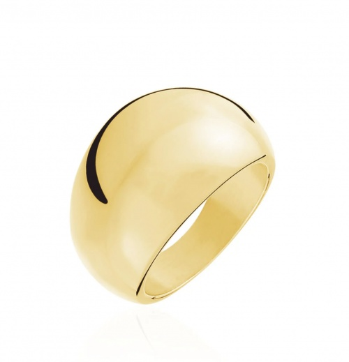Histoire d'Or - Bague en acier plaqué or