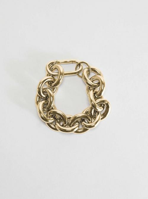 Max Mara - Bracelet chaîne en métal plaqué or