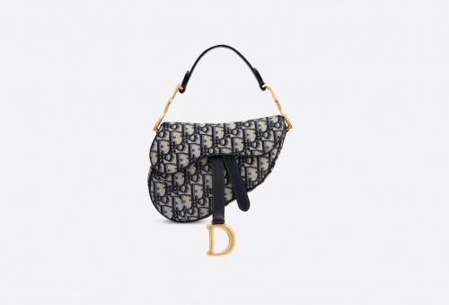 Dior - Sac Saddle mini en toile de jacquard