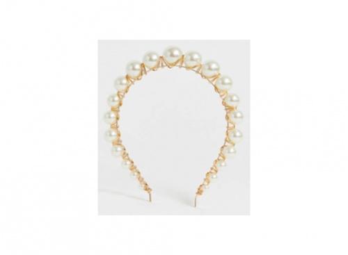 Asos Design - Bandeau orné de perles effet dégradé - Doré