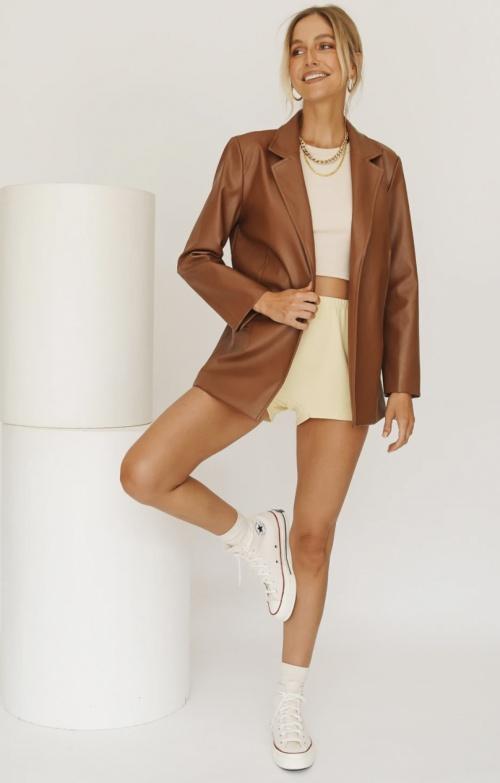 Verge Girl - Blazer en simili cuir