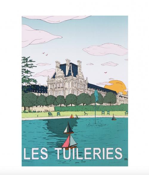 Maison Sarah Lavoine - Affiche Tuileries 50x70 cm