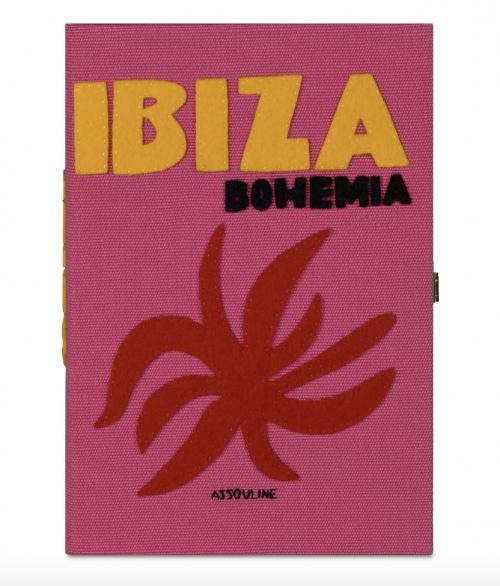 Assouline x Olympia Le-Tan - Pochette livre Ibiza Bohemia en feutre et fil de soie