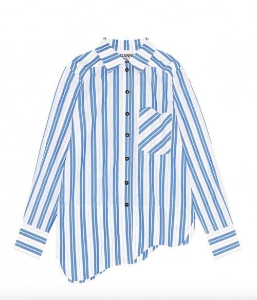 Ganni - Chemise à rayures en coton
