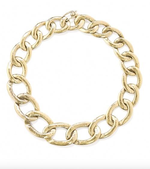 Goossens - Collier Lhassa en métal trempé or