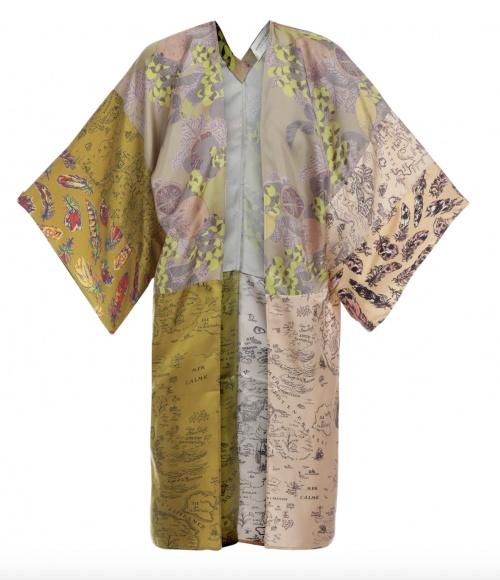 La Prestic Ouiston - Kimono mi-long en soie capsule recyclé