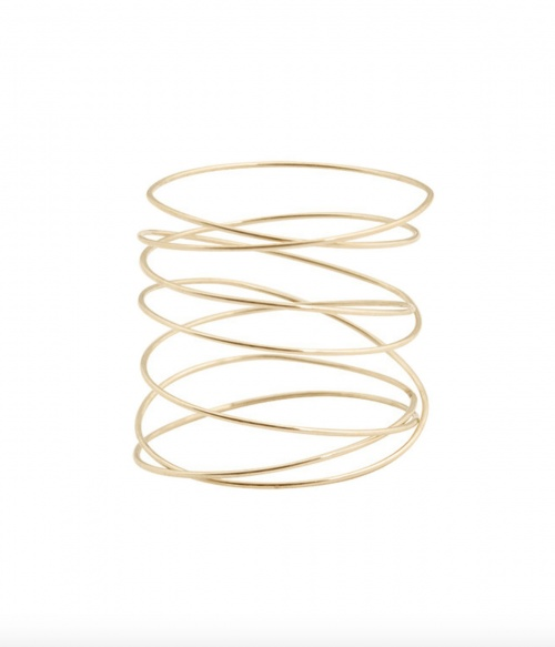 Lsonge - Bague spirale en fil d'or