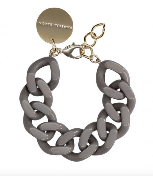 Vanessa Baroni - Bracelet Flat en acétate et laiton plaqué or