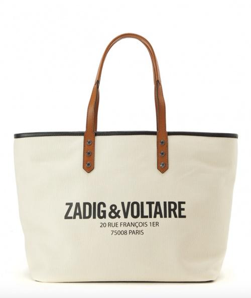 Zadig & Voltaire - Sac cabas Mick Paris en toile
