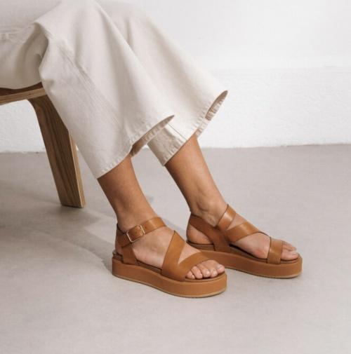 Jonak - Sandales à plateforme à lanières en cuir