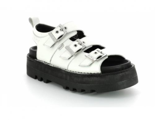 Kickers - Sandales à plateforme en cuir